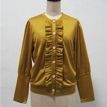 la reine Reinette フリルカーディガン [mustard]