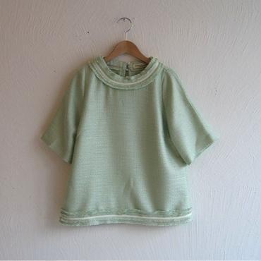 ツイードプルオーバー[mint green]