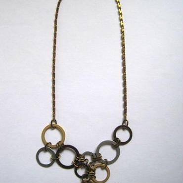 Saphiret 3×3リングネックレス