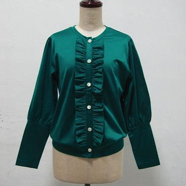la reine Reinette フリルカーディガン [green]