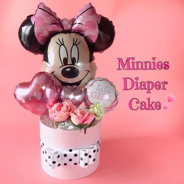 ミニーちゃん♥オムツケーキ♥出産祝い・ベビーシャワーに♥