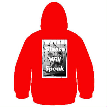 Silence Will Speak パーカー(red)