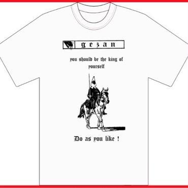 GEZAN//like a HORSE T-shirt(White/Red)