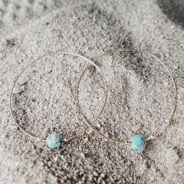 turquoise hoop pierce/14kgf