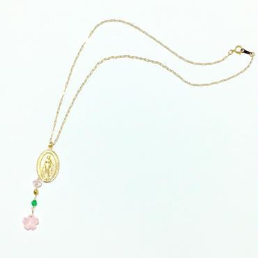 メダイ × 桜 ネックレス チェーン14kgf