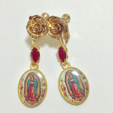 グアダルーペのマリア×ローズのイヤリング
