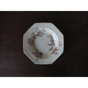 1769年代 イギリス製 オクトゴナル・プレート皿(A)