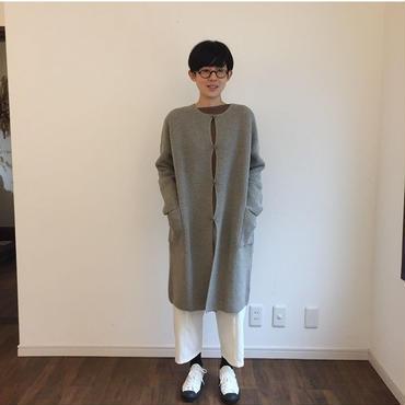 《evam eva 》wool camel aze robe