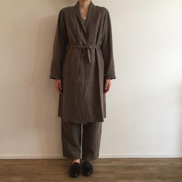 《evam eva》raising linen robe