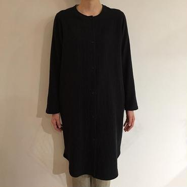 《evam eva》cotton linen shirt robe
