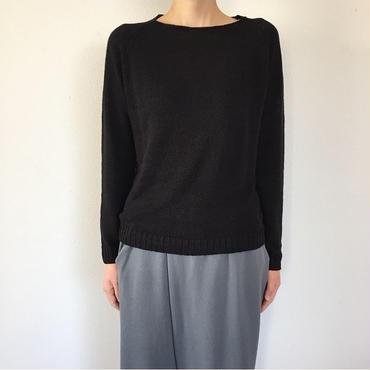 《evam eva》linen lily yarn raglan pullover