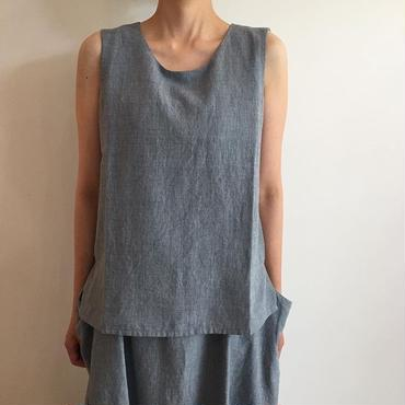 《evam eva》chambray sleeveless pullover