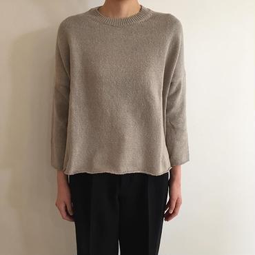 《evam eva》covering yarn pullover