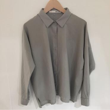 《evam eva》cotton cashmere square shirt