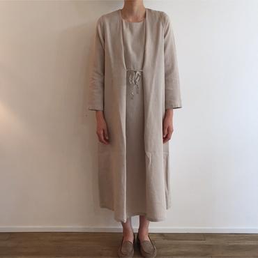 《evam eva》wool linen one-piece