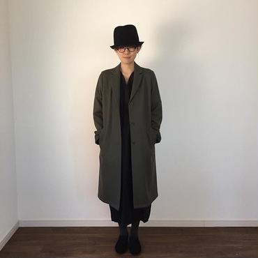 《evam eva》peaked lapel long jaket