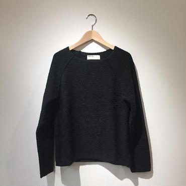 《evam eva》ring yarn raglan pullover