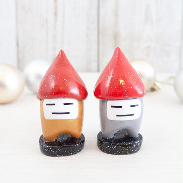 【 チーム スタンド 】赤い三角帽子の金100号/銀100号