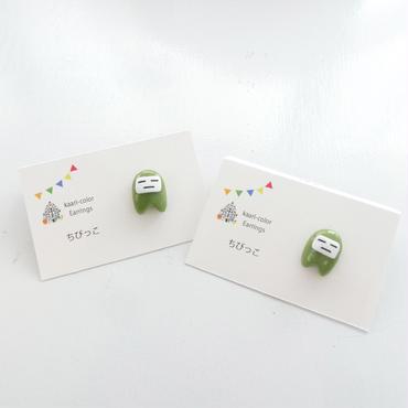 【 捌月の子 】  橄欖色の片耳ピアス ear021-022
