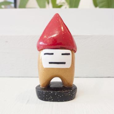 残りひとり【 季節柄 】金100号 赤い三角帽子のスタンド