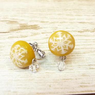 【 耳飾り 】雪のかけらイヤリング 貼り付けタイプ no.536E