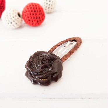 【 パッチンピン 】チョコローズ 金具強度優しめ no.560-561H