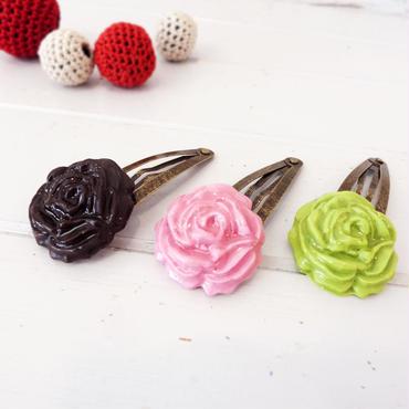【 パッチンピン 】チョコローズ no.562-566H