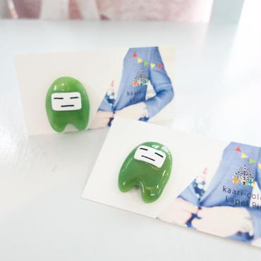【 捌月の子 】  橄欖色のラペルピン no.P023-P024