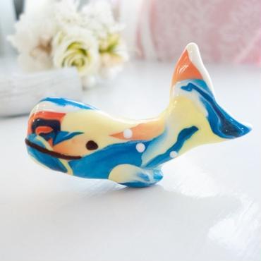 【 ブローチ 】回游するクジラ 夏 no.723B