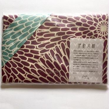 ふろしき 伊砂文様 両面 菊(薄紫×青磁)