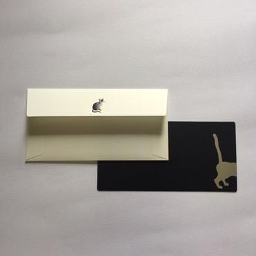 封筒セット 長方形  ねこ