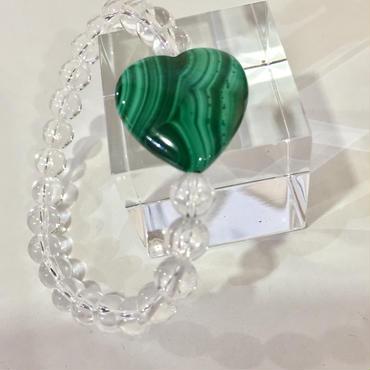 マラカイト+水晶ブレス