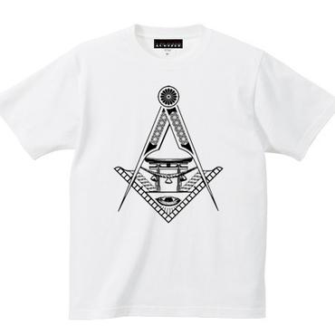 YAMATERAS / 鳥居ロゴTシャツ 7.1oz スーパーヘヴィウェイト仕様 白