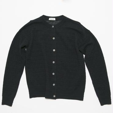 wool cardigan 梳毛×異素材カーディガン