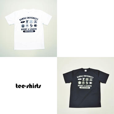 【関西大学Aリーグ】全チームロゴ入りTシャツ:2色展開