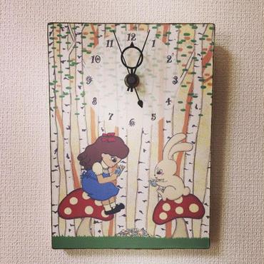 ☆SALE☆ファブリックパネル時計『不思議の国のトランプ』