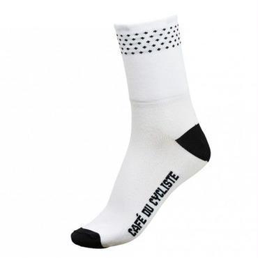 Café du Cycliste Dotted Socks White