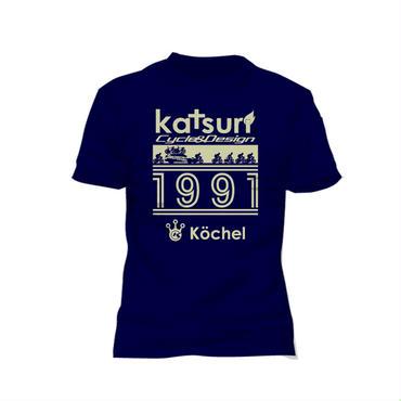 Racing scene T-shirt Navy