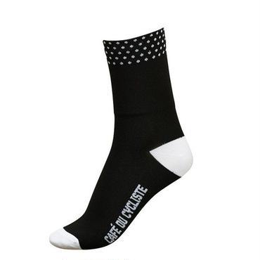 Café du Cycliste Dotted Socks Black