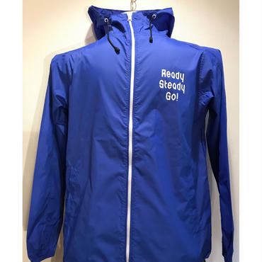 JK001-3  ナイロンフーデッドジャケット BLUE/WHITE