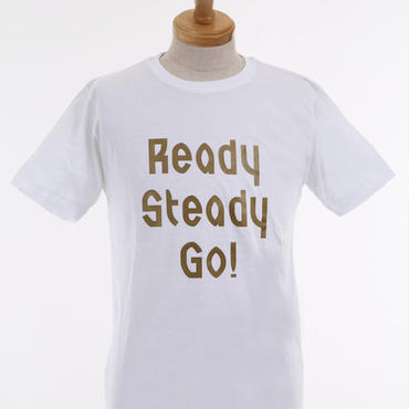 LT001--2 ロゴTシャツ WHITE/MATT GOLD
