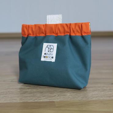防水トリーツポーチ(モスグリーン×オレンジ)