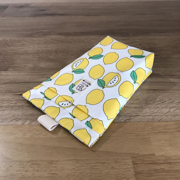 防水消臭ラミネートマナーポーチ(レモン)