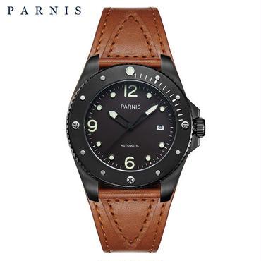Parnis メンズ 機械式腕時計 防水 回転セラミックベゼル