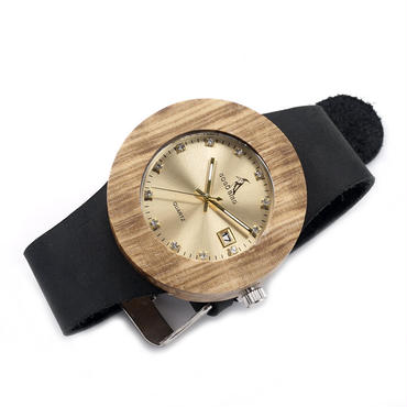 BOBO BIRD  レディース クォーツ腕時計ゼブラウッド 本革バンド 木製腕時計