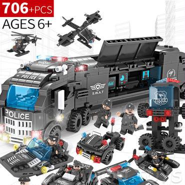 レゴ互換 軍事 swat(スワット)チーム警察 おもちゃ 706ピース8in1