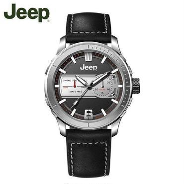 Jeep(ジープ)腕時計 クォーツ 発光 防水 レザーバンド