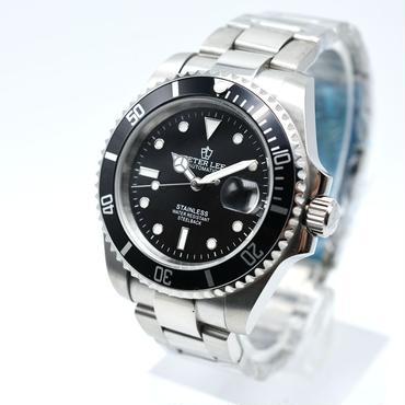 PETERLEE 腕時計 クラシック 自動機械式 メンズ フルスチール 防水