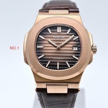 PETERLEE  クラシック機械式腕時計 レザーストラップ