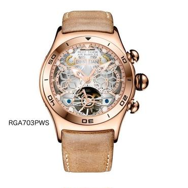 Reef Tiger 機械式腕時計 ビッグスケルトンダイヤル トゥールビヨン